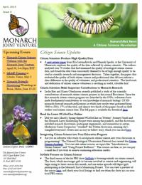 April 2015 MonarchNet news