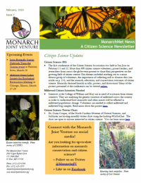 February 2015 MonarchNet news